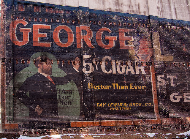 Photo of a Henry George cigar mural by . http://www.flickr.com/photos/toby_d1/4326120366/