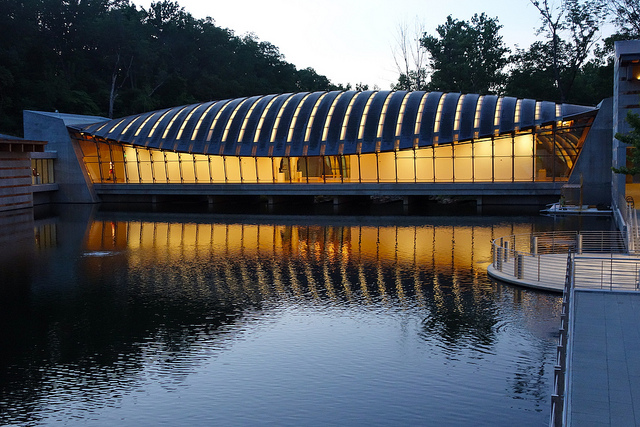 Photo of Crystal Bridges Museum of American Art by Flickr user kevin dooley http://bit.ly/MWk7Nd