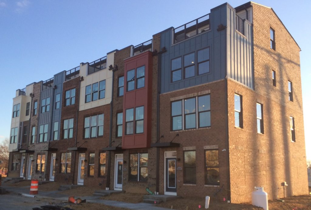 New townhomes at Editor's Park in Hyattsville.